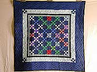 Navy and Multicolor Nine Patch Wall Hanging