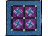 Miniature Amish Star Spin Quilt