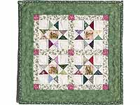 Miniature Green And Multi Ohio Stars Quilt