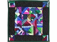 Minature Almost Amish Crazy Quilt
