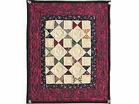 Miniature Burgundy  And Plaids Bow Tie Quilt