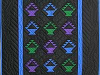 Amish Baskets Crib Quilt