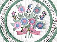 Pastel Rose of Sharon Wall Hanging