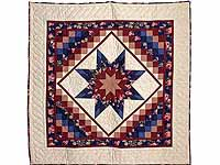 Navy Blue and Burgundy Lone Star Trip Wall Hanging