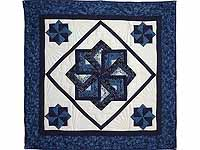 Navy and Blue Star Spin Wall Hanging