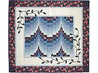 Blue and Rose Twin Peaks Bargello Wall Hanging