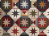 Navy Burgundy and Multicolor Court Step Stars Throw