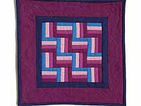Miniature Amish Rail Fence Quilt