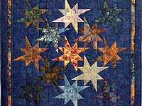 Hand Painted Navy Star Bright Wall Hanging