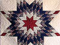 Navy and Red Lone Star Wall Hanging