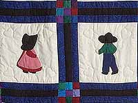 Amish Children Nine Patch Crib Quilt