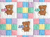 Nine Patch Teddy Bear Crib Quilt