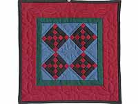 Miniature Amish Nine Patch Diamond Quilt
