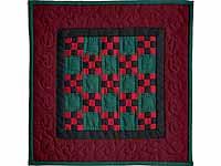 Miniature Amish Nine Patch Quilt
