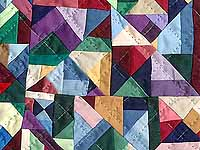 Miniature Almost Amish Crazy Quilt