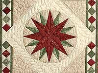 Sage and Brick Compass Star Wall Hanging