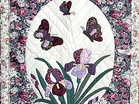 Iris Applique Wall Hanging