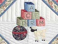Pastel Blue ABC Crib Quilt