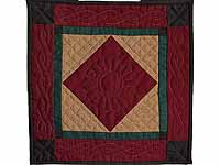 Amish Center Diamond Miniature Quilt