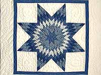 Blue and Cream Lone Star Crib Quilt