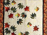 Maple Red and Green Autumn Leaves Throw