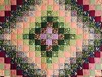 Green and Multi Hit or Miss Crib Quilt