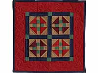 Miniature Amish Monkey Wrench Quilt