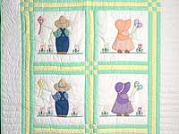 Sunbonnet Sue & Bill Crib Quilt