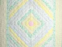Yellow Green Pastel Ocean Wave Crib Quilt