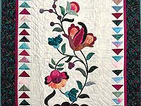 Jacobean Appliqued Wall Hanging