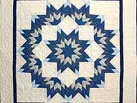 Blue and Cream Broken Star Wall Hanging