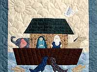 Noahs Ark Applique Crib Quilt