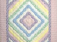 Pastel Pink Lavender and Multicolor Ocean Wave Crib Quilt