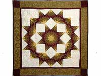 Gold and Burgundy Broken Star Wall Hanging
