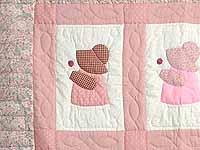 Pink Sunbonnet Sue Crib Quilt