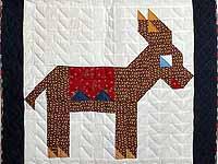 Patriotic Donkey Patchwork Crib Quilt