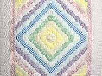 Pink and Pastels Ocean Wave Crib Quilt