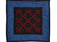 Miniature Amish Nine Patch Quilt