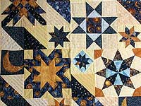 Moon and Stars Patchwork Wall Hanging