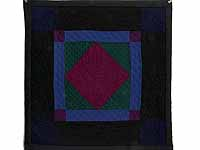 Amish Woolen Center Diamond Miniature Quilt