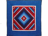 Red White and Blue Extra Fine Postage Stamp Trip Wall Hanging