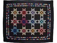 Almost Amish Star Glow Throw
