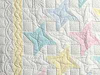 Pale Yellow and Pastels Friendship  Crib Quilt