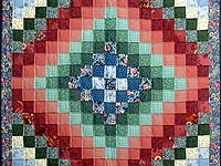 Multicolor Hit or Miss Crib Quilt