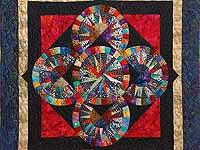 Multicolor Quintuple Compass Star Wall Hanging