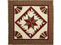 Burgundy and Earth Tones Star Medallion Wall Hanging