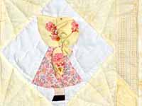 Pastel Yellow Sunbonnet Sue Crib Quilt