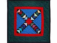 Miniature Crossed Flying Geese Quilt