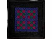 Amish Woolen Nine Patch Wall Hanging