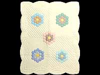 Yellow and Pastels Flower Garden Crib Quilt